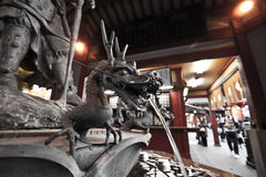 sensoji de fontaine de dragon Image stock