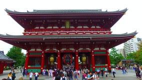 Sensoji five-storied pagoda and Houzoumon in Tokyo Japan stock video