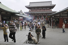 Sensoji inner yard Royalty Free Stock Photography