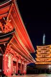 Sensoji-ji Czerwona Japońska świątynia w Asakusa, Tokio Obraz Stock