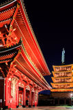 Sensoji-ji Red Japanese Temple in Asakusa, Tokyo Stock Image