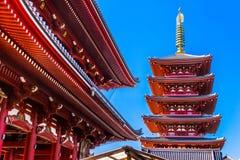 Sensoji-ji tempel i Asakusa, Tokyo, Japan Royaltyfri Foto