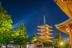 .Sensoji-ji Temple in Asakusa Japan Royalty Free Stock Photo