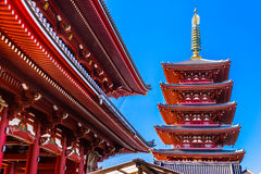 Sensoji-ji, Temple in Asakusa, Tokyo, Japan. Royalty Free Stock Photo
