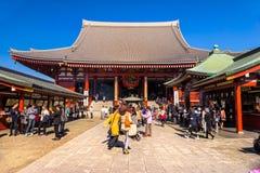 Sensoji -sensoji-ji, Tempel in Asakusa, Tokyo, Japan Royalty-vrije Stock Afbeeldingen