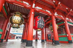 Sensoji tempel Arkivfoto