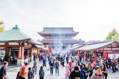 Sensoji tempel arkivbilder