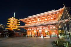 Sensoji tempel Tokyo Arkivfoton