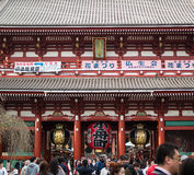 SENSOJI-TEMPEL, TOKYO, Royaltyfria Foton