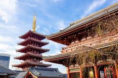 Sensoji tempel royaltyfria foton