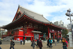 Sensoji Temple ,Asakusa-Japan-Feb 19'16 Royalty Free Stock Images