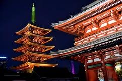 Sensoji Temple Asakusa Tokyo Japan Night scene stock images