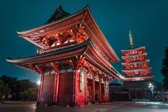 Free Sensoji Temple At Night In Asakusa, Tokyo Royalty Free Stock Photography - 128085097