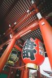Sensoji temple. Huge Japan lanterns at Sensoji temple in tokyo Japan stock photo