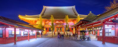 Temple de Sensoji à Tokyo Images libres de droits