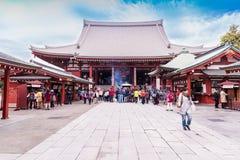 Sensoji temple - 2014 November 5 : Sensoji (also known as Asakus Royalty Free Stock Photo