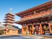Sensoji temple and pagoda Stock Photos