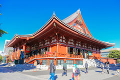 Sensoji Temple`s Hozomon Gate in the Asakusa District. Senso-ji. ASAKUSA,TOKYO, JAPAN - NOVEMBER 19, 2014: Sensoji Temple`s Hozomon Gate in the Asakusa District Stock Photo