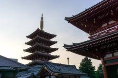 Sensoji temple sunset Royalty Free Stock Photography