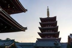 Sensoji temple sunset Stock Image