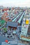 Sensoji Temple in Tokyo,aerial view Stock Photos