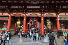 Sensoji Temple in Tokyo, Japan Royalty Free Stock Photos