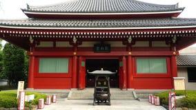 Sensoji Temple Tokyo Japan. Zoom out of Side Temple at Sensoji Temple - Tokyo Japan stock footage