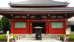 Sensoji Temple Tokyo Japan. Zoom out of Side Temple at Sensoji Temple - Tokyo Japan stock video