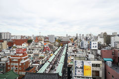 Sensoji temple top view taken in Japan on 4 December 2016 Stock Photos