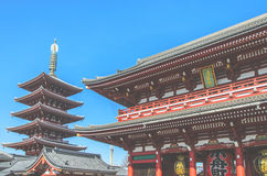 Sensoji Temple's Hozomon Gate and five storied pagoda.made with Stock Photos