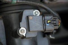 Sensor de flujo de aire dentro de un coche fotografía de archivo