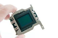 Sensor do CMOS da terra arrendada Fotografia de Stock
