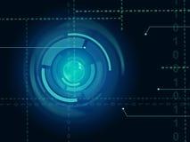 Sensor electrónico del ojo de los medios del fondo del sensor o Technolo de moda Imágenes de archivo libres de regalías
