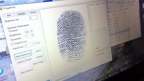 Sensor en tiempo real de la huella dactilar almacen de video