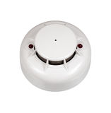 Sensor fire alarm like a smiling emoticon Stock Images