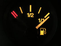 Sensor of fuel full. Sensor of full tank of benzine royalty free stock photos
