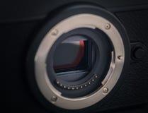 Sensor of a mirrorless camera. royalty free stock photos