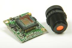 Sensor pequeno da câmera do CMOS dentro da câmera análoga do zangão FPV fotos de stock