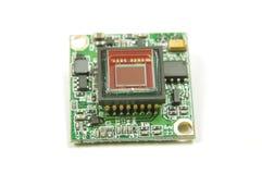 Sensor pequeno da câmera do CMOS dentro da câmera análoga do zangão FPV imagem de stock royalty free