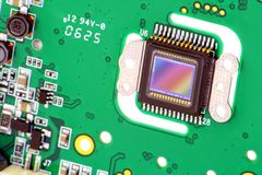 Sensor RGB-CMOS von der Kamera lizenzfreies stockfoto