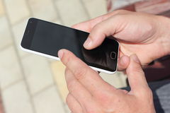 The sensor smartphone Stock Photo