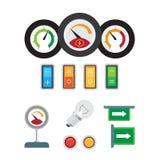 Sensor Tachometr, des Geschwindigkeitsmessers und des Brennstoffs Stockbild