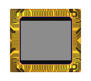 Sensor van digitale camera, vector illustrat Stock Foto