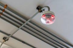 Sensore del LED - indicatore del posto-macchina nella parità dell'automobile del grande magazzino fotografia stock