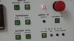 Sensores, monitores, bot?es e sistema de controlo da planta industrial filme