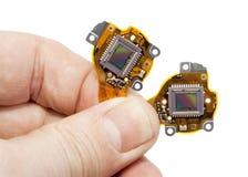 Sensori di RGB dalla macro della macchina fotografica digitale Fotografie Stock Libere da Diritti