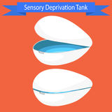 Sensory deprivation Tank vector illustration. Stock Photos
