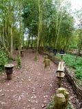 Sensory garden. Wonderful garden within rushcliffe country park in Nottinghamshire Stock Photo