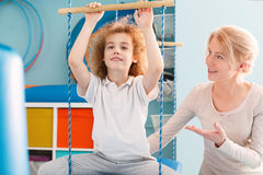 Sensory integration session Royalty Free Stock Images