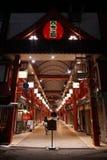 Sensouji Świątynnej Wejściowej ścieżki Zachodni portal w Asakusa Tokio zdjęcia stock